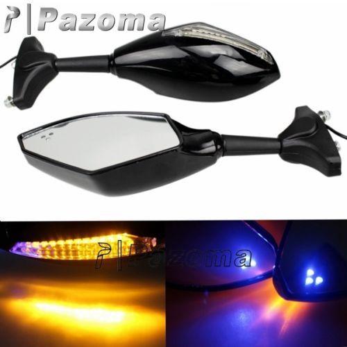 Мотоцикл Pazoma супермото зеркала с светодиодный поворотники интегрирована для CBR 250 500 600 1000 RR GSXR HAYABUSA