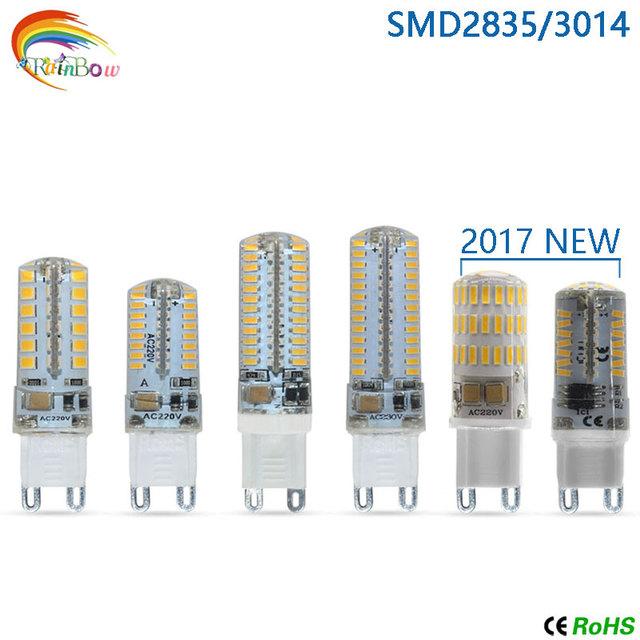 2017 Newest G4 G9 LED lamp LED Bulb SMD 2835 3014 4014 led Corn Light AC220V 360 Degree Crystal bulb Replace g4 g9 Halogen Lamp