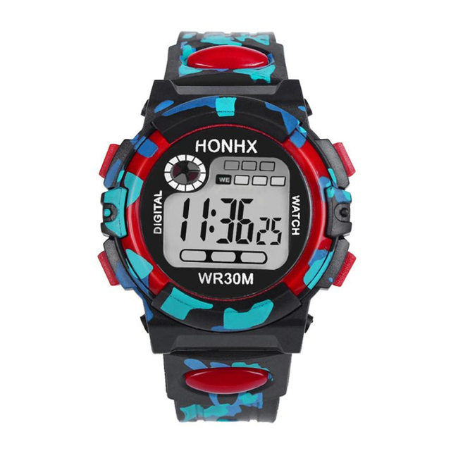 Fashion Camouflage Kids Child Boy Girl Multifunction Waterproof Sports Electronic Watches reloj mujer watches Dropshipping 43