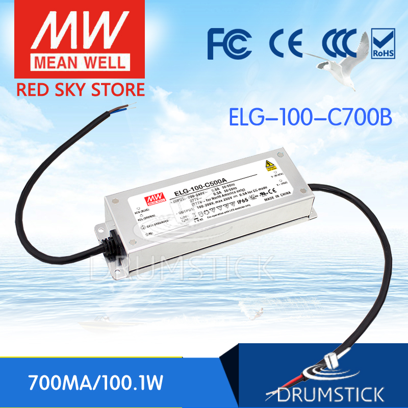 100% Original MEAN WELL ELG-100-C700B 149V 700mA meanwell ELG-100 100.1W Single Output LED Driver Power Supply B type [Real6] 1mean well original elg 100 48b 48v 2a meanwell elg 100 48v 96w single output led driver power supply b type