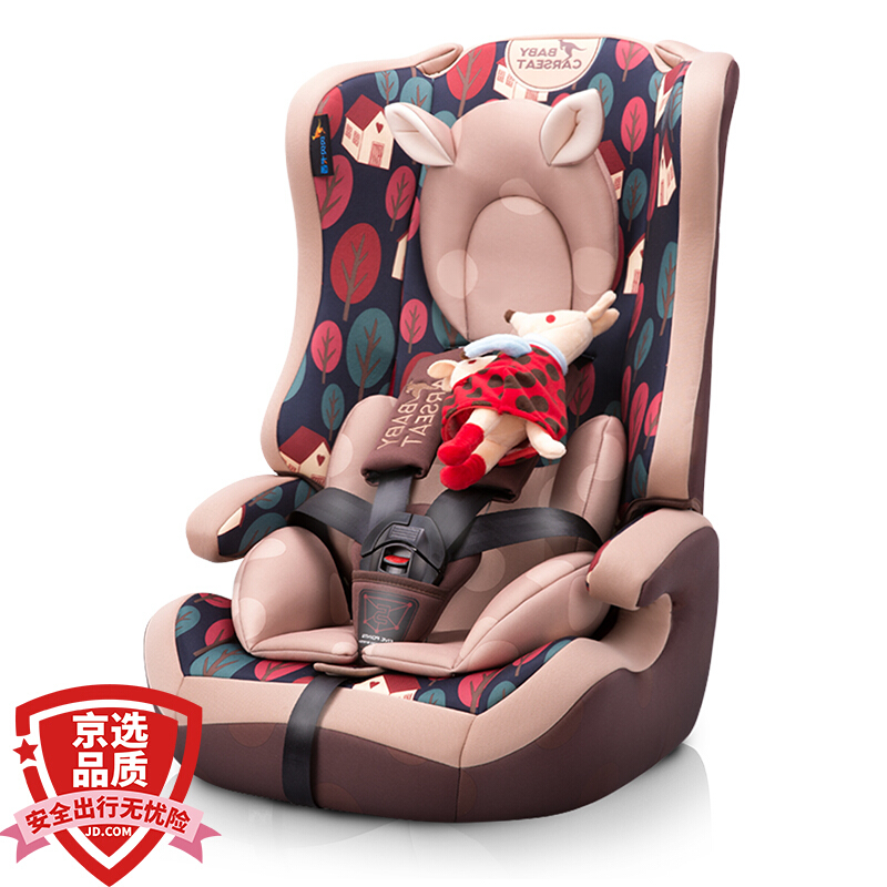 Childrens car seat country 3C, European ECE certification 9 months - 12 years old LB513 caffeine pinecone