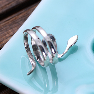 Image 5 - V.YA 925 Silver Animal Ring Adjustable S925 Sterling Silver Rings for Men Women Snake Jewelry Wedding Birthday Gift