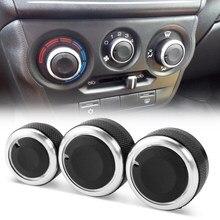 Boutons pour climatisation voiture, contrôle thermique bouton de commutation, en alliage d'aluminium, 3 pièces par ensemble, pour Lada Granta