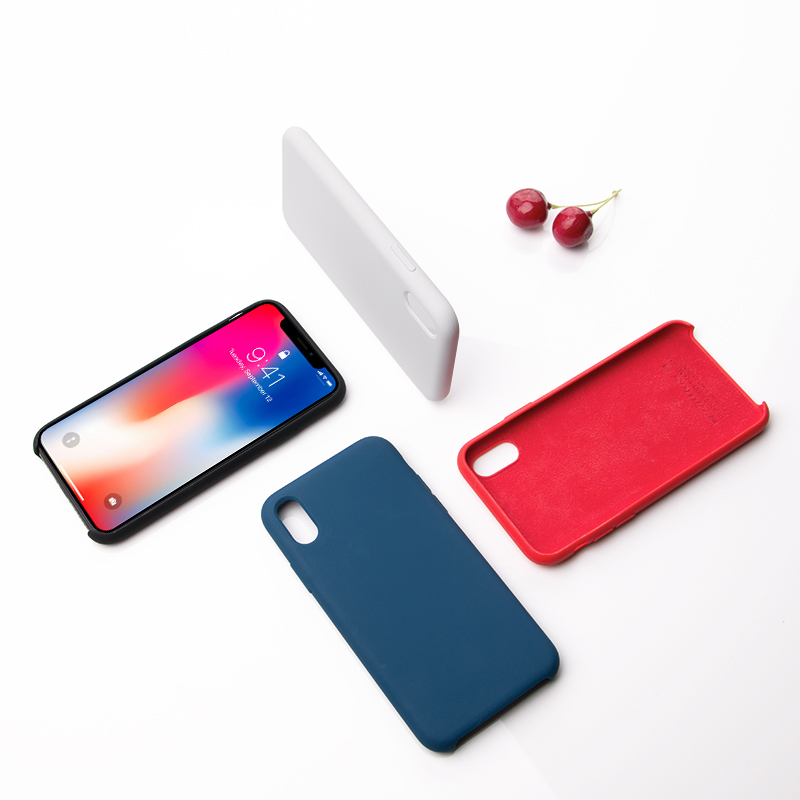 Nillkin bumper cases for iPhone X Plain Phone Cover TPU Silicone Cover Protective Shell Soft Phone Cover Case for iPhone XS Case