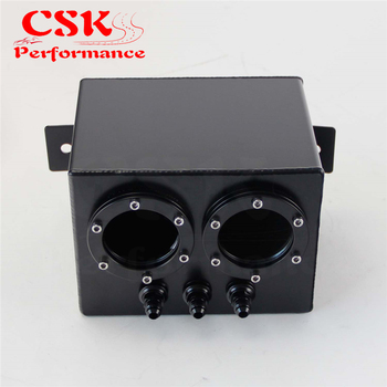 El tanque de la olla del remolino del filtro de combustible de alto flujo 3L se adapta a la bomba de combustible externa 044 negro/plata
