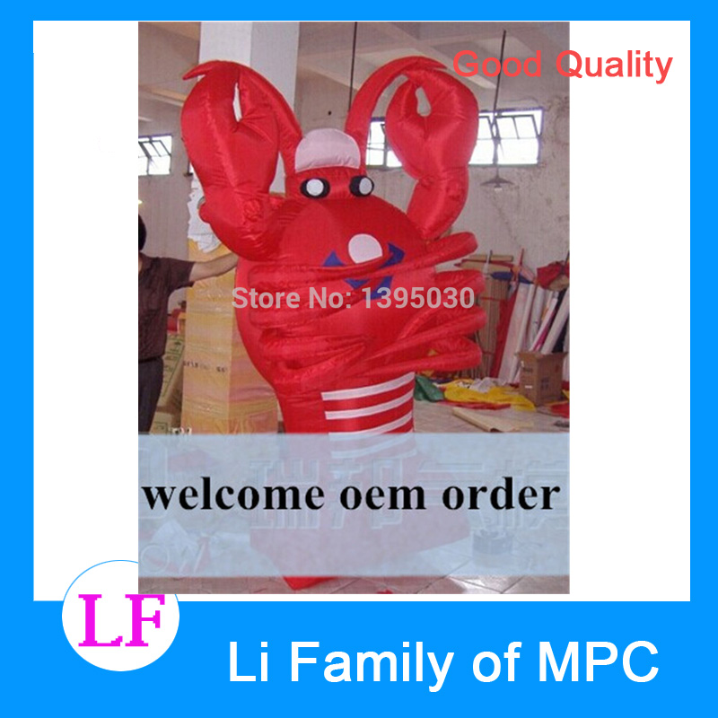 1pc 2M  Lobster cartoon inflatable, inflatable lobster , inflatable animal cartoon