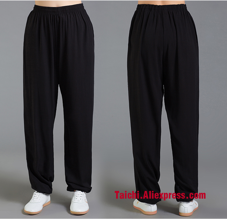 Summer Linen Tai Chi Pants,Kungfu Trousers  Flax Kung Fu Martial Art Pants Wu Shu Pants Yoga  Pants  9 Color S-XXXL