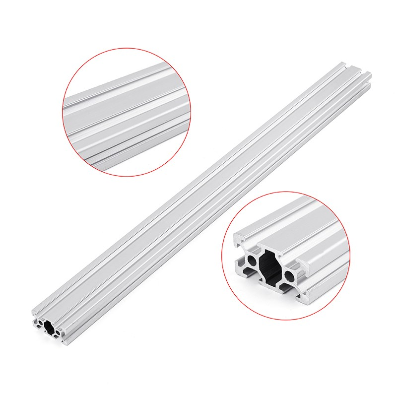 1 Pc 300/350/400/450mm Lengte 2040 T-slot Aluminium Profielen Extrusie Frame Voor Cnc 3d Printer Lasers Stands Meubels Plasma Diy Geselecteerd Materiaal