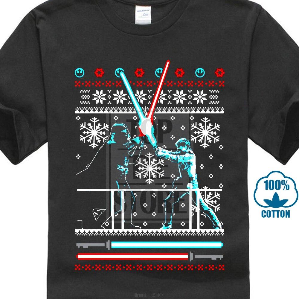 star wars christmas t shirt men tshirt fighter clothing xmas gift tops cotton tee shirts darth vader sweater black
