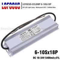 180W LED Driver 6 10Sx18P Waterproof 5400mA 18 34V 5.4A For 108 126 144 180 W Watt COB Chip Lighting Transformers Power Supply