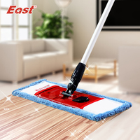 Life83 Flat Telescopic Mop With Pole Microfiber Cloth Towel For Home Floor Kitchen Living Room Cleaning