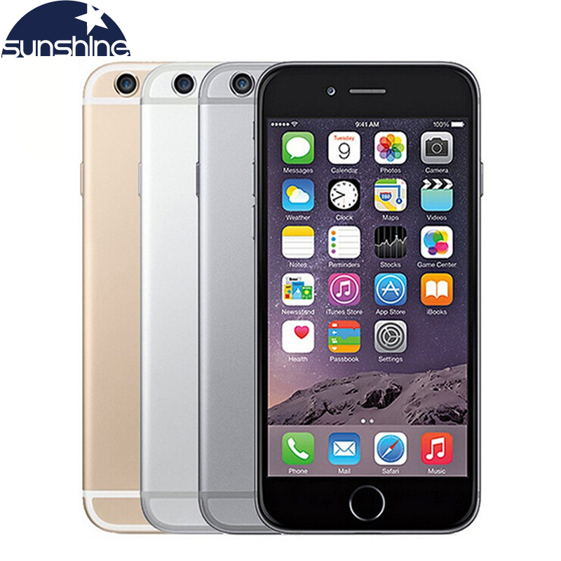 D'origine Apple iPhone 6 LTE Débloqué Mobile téléphone 1 GB RAM 16/64/128 GB iOS 4.7 «8.0MP Dual Core WIFI IPS GPS Utilisé téléphone