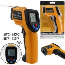 Профессиональный Цифровой ЖК Инфракрасный Термометр бесконтактный ИК Измерения Температуры Пистолет Метр для Горячей воды трубы/частей Двигателя