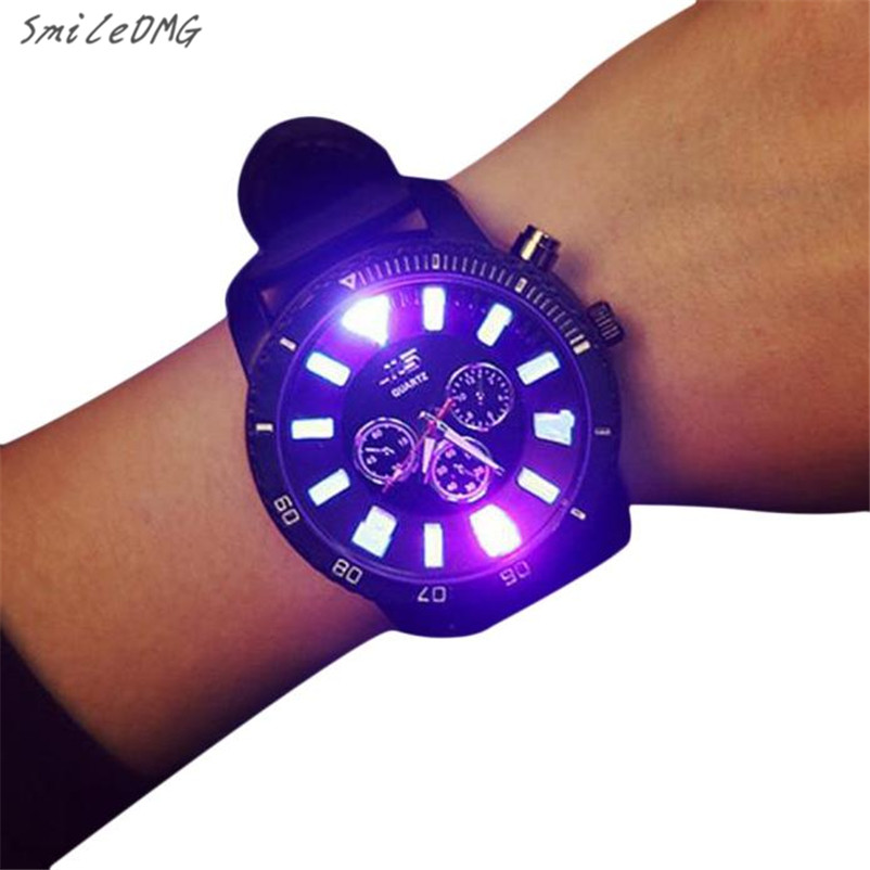 SmileOMG Hot Marketing Fashion Unisex Men Women Quartz Analog Wrist Luminous Watch Watches Free Shipping,Sep 22 smileomg hot sale fashion women crystal stainless steel analog quartz wrist watch bracelet free shipping christmas gift sep 5