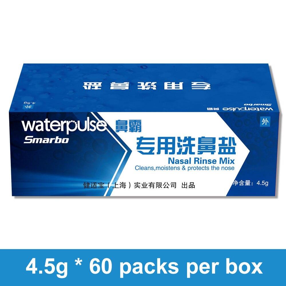 Waterpulse 4.5g*60 Packets Nose Wash Salt for 500ml Bottle Nasal Rinse Mix Boxed Allergic Rhinitis Nasal Wash Cleaner IrrigatorWaterpulse 4.5g*60 Packets Nose Wash Salt for 500ml Bottle Nasal Rinse Mix Boxed Allergic Rhinitis Nasal Wash Cleaner Irrigator
