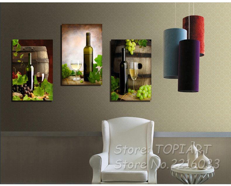 Modern style leinwand malerei set weiß weinfässer große wand kunst