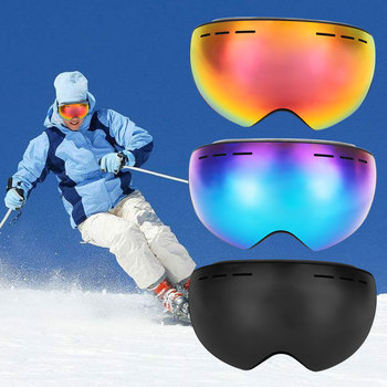 Ski Goggles 2018 TPU Ski Wind Mirror Durable H019 Snowboard Goggles 3 Color Outdoor Sport iPhone 8