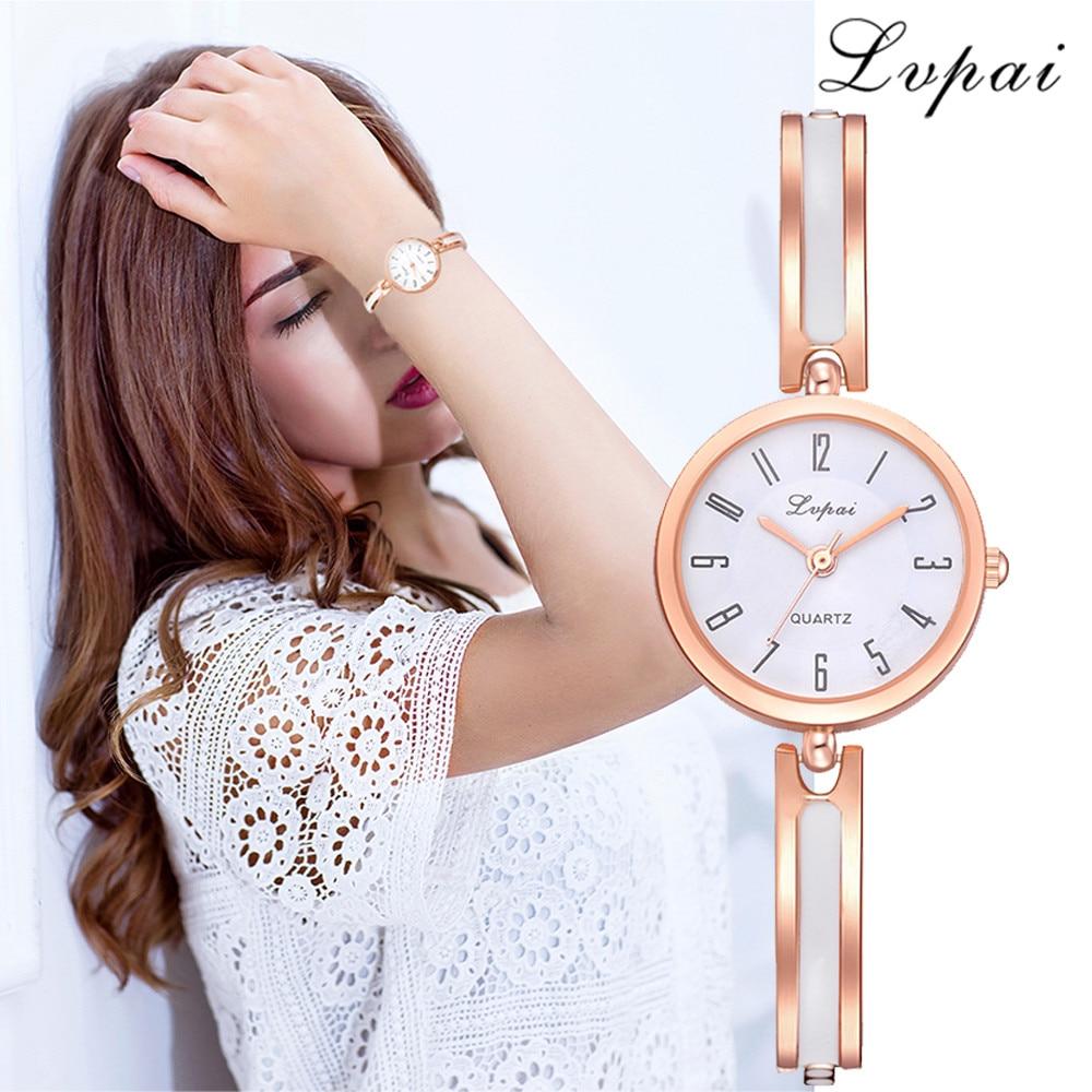 Lvpai New Brand Women Crystal Dress Watch Bracelet Watch Luxury Casual Women Fashion Alloy Wrist Watch Fashion Quartz Watch