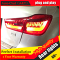 Auto Clud Car Styling for Mitsubishi ASX Taillights New ASX LED Tail Lamp Outlander EX LED Rear Lamp DRL+Brake+Park+Signal led l