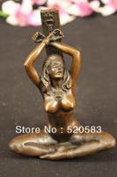 Bezpłatne Podpisał Nago Erotyczne Bondage Lady Rzeźba Z Brązu Posąg Postać Art Nouveau szybka w Posągi i rzeźby od Dom i ogród na