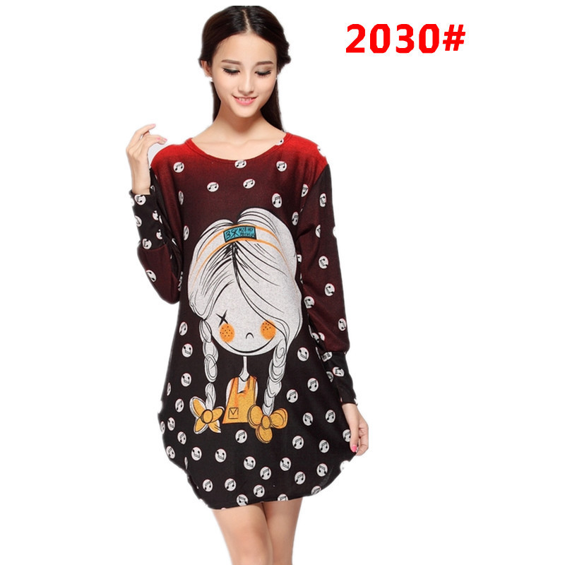Promotion sale women Autumn dresses wholesale plus size full sleeve pullovers 2017 fashion pattern long style sweatshirts