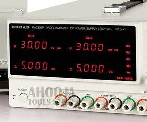 Image 2 - KA3305P Programmable Precision Variable Adjustable 30V 5A 3A USB RS232 Ports Digital DC Triple Linear Power Supply Lab Grade