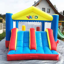 YARD Big Home Use Inflatable Trampoline Double Slide Outdoor Jumping House for Children Special Offer for European Countries yard inflatable bouncy castle mini bounce house home use for kids birthday party outdoor toy games special offer for middle east