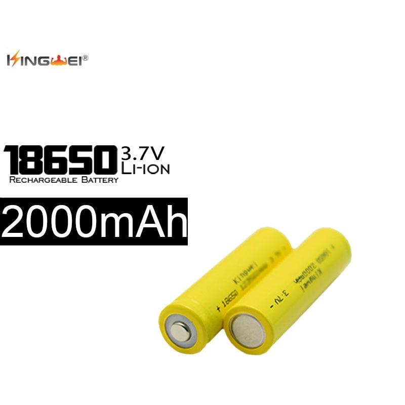 100pcs/lot Batery 3.7v 18650 Battery 2000mah Li-Ion Rechargeable Batteries For Flashlight Powerbank Torch Wholesale