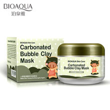 bioaqua Black Pig Carbonated Bubble Clay Mask sleep treatment mask whitening hydration blackheads remover cosmetics face masks