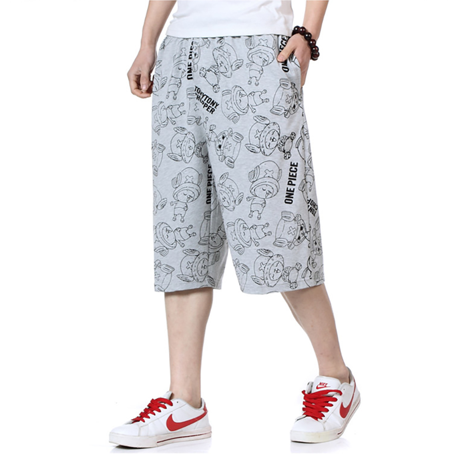 Big Size Summer Shorts Men With Pockets Printed Baggy Joggers Hip Hop Shorts Academia Workout Homens Gasp Sweatpants S6T022