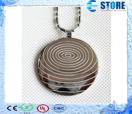 10pcs Silver Quantum Scalar Energy Pendant with 2000cc ion energy Stainless Steel