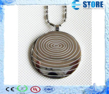10pcs Silver Quantum Scalar Energy Pendant with 2000cc ion energy, Stainless Steel