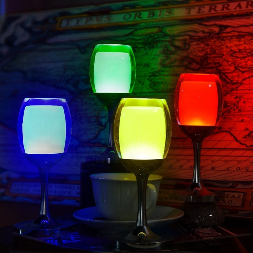 Vinkoppladdningslampa LED-nattlampa 3W USB-laddning Justera - Festlig belysning - Foto 6