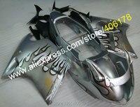 Hot Sales,For Honda Parts CBR 1100XX Blackbird CBR1100XX 1996 2007 Silver Flame Motorcycle Fairing Parts (Injection molding)