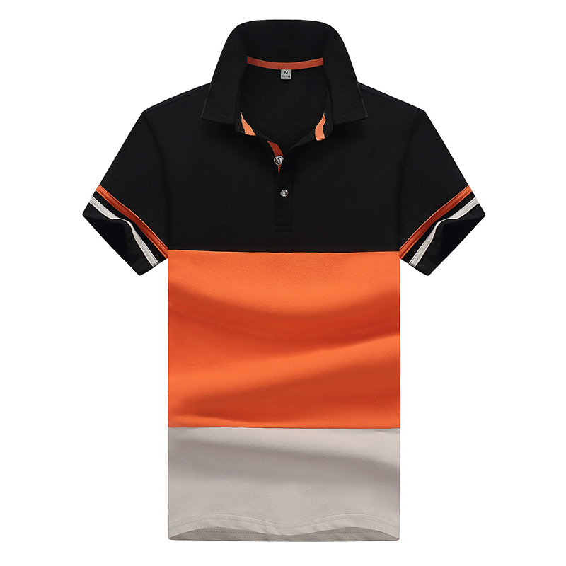 Contrast Color Striped Men   POLO   SHIRT Brand Sumemr Cotton Casual Fashion Short Sleeve   Polos   Breathable Slim Top Plus Size M-4XL