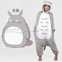משלוח חינם Totoro סרבל תינוקות פיג 'מות הלבשת עיבוי צמר פלנל, למבוגרים בעלי החיים סרבל תינוקות