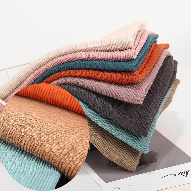 crinkle shawl fashion muslim hijabs women maxi scarf NEW Skin  pleated hijab scarf plain shawls islamic scarfs 20 color hot  saleWomens Scarves
