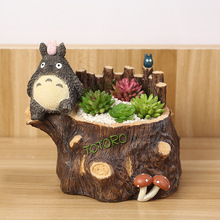 My Neighbour Totoro Figurines Vase Resin Flowerpot Ornaments Funny Succulent Plants Flower Pot Home Decor Free Shipping