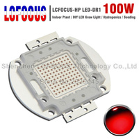 (DIY) LED Grow Light 100W LED Chip COB SMD Lamp Bulb Deep Red 660NM 630NM For Indoor Tent Plant Vegetables Fruit Growing Seeding