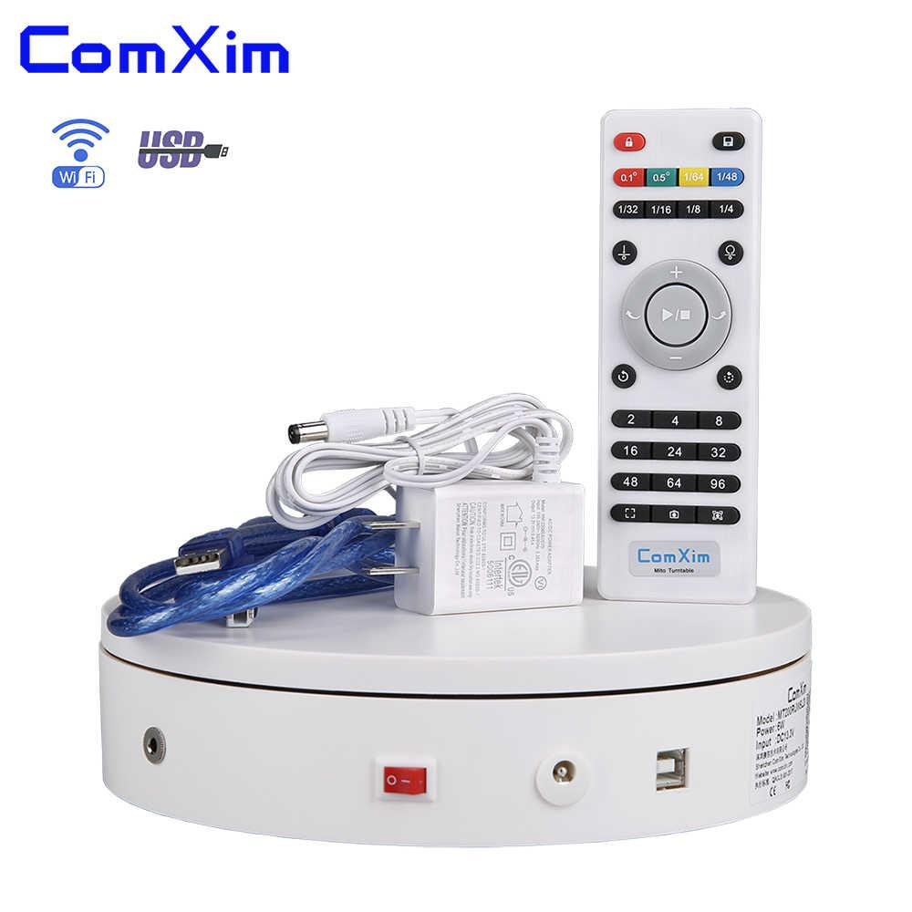 20cm 7.87in wifi, controle de computador por usb, obturador síncrono, gerencio elétrico turntable fotografia equipamento expositor comxim