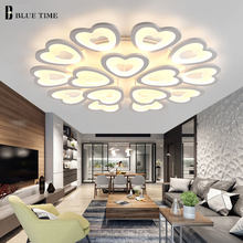 White Luminaries Lamp Modern Led Chandelier For Living Room Bedroom Dining Room Lustres LED Ceiling Chandelier Lighting Fixtures(China)
