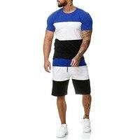 Mens 2 Piece Outfit Sport Set Short Sleeve Summer Leisure Casual Short Thin Sets Summer Leisure Casual Dark Blue Short Thin Sets