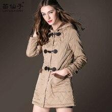 Long Sleeve winter heat thick Ladies Outerwear slim plaid Cotton Coats Women parkas informal Down Jackets button Outwear feminine