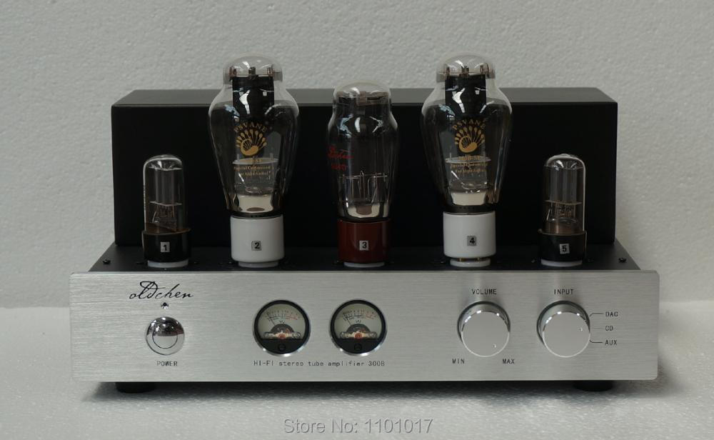 Laochen 300B Tube Amplifier HIFI EXQUIS Single-ended Class A Handmade OldChen Sliver Amp oldbuffalo 300b signal ended tube amplifier hifi exquis black aluminum chassis 4 way lamp amp
