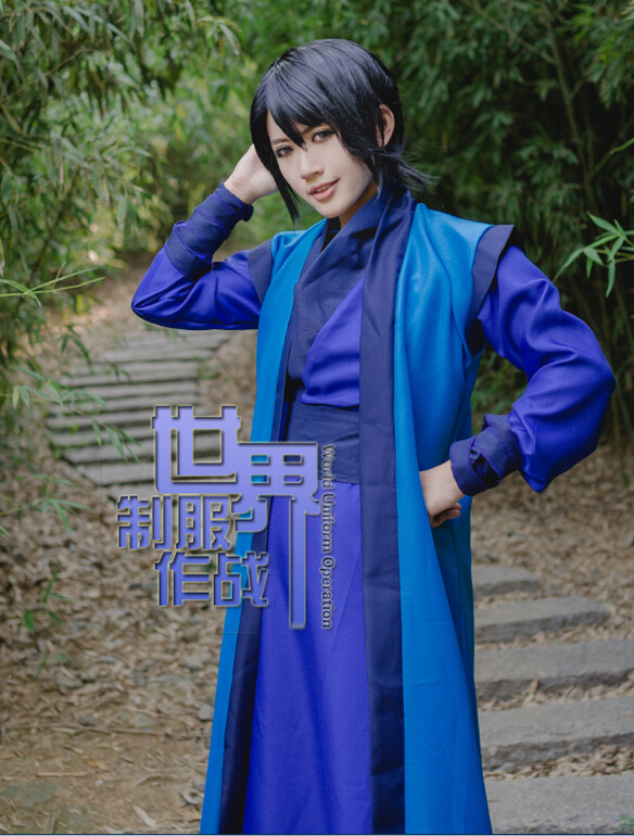 New Akatsuki no Yona Cosplay costume blue dragon male ...