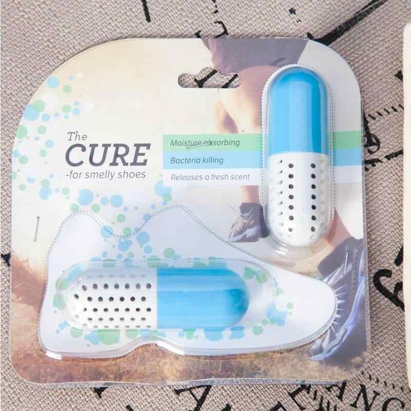 2 stks Schoen Deodorant Deodorizer Leuke Pil Vorm Schoen Droger Antimicrobiële Geur Verwijderen Closet Deodorant Lade Vocht Absorber