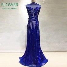 Королевский синий цвет с блестками сетка, фатин, кружева в африканском стиле; сетчатая кружевная ткань со стразами индийское, высокого качества; женские вечерние платья сетчатый кружевной материал