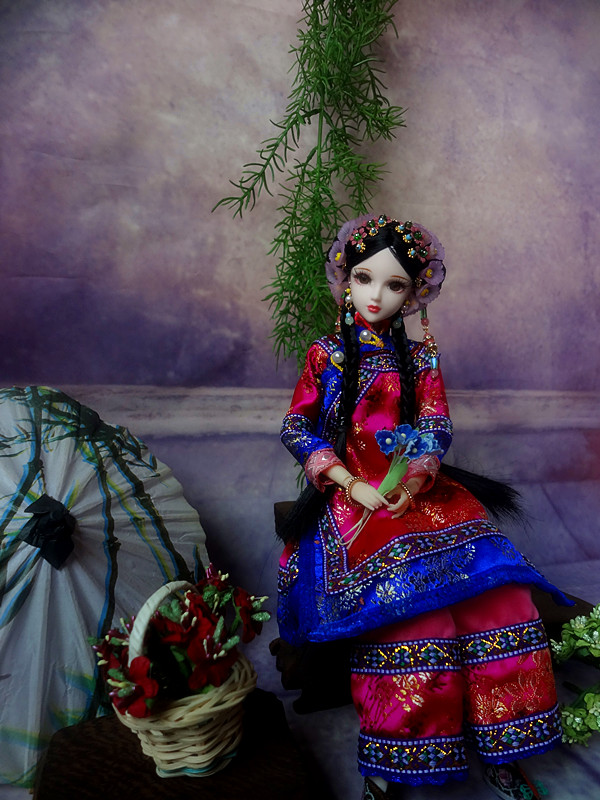 Free Shopping 32CM High-end Chinese Qing Dynasty Princess Dolls Pretty Girl Dolls Movies & TV Girls Toys Christmas Gifts 219