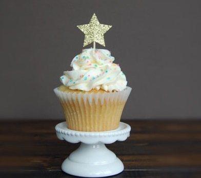 6pcs Lot Love Star Shape Cupcake Cake Topper Flags Baby Shower Wedding Birthday Christmas