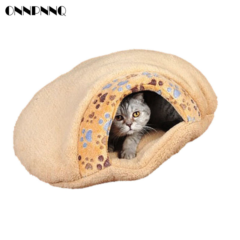 New Pet Products Winter Warm Soft Plush Cat House Pet Mats Sleeping Bag Cute Hamburger Puppy Cushion Cat Bed Dog Kennel pet Bed